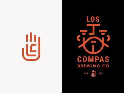 Compas Brew iconography identity mark typography