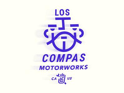 Compas lockup branding typography illustration texture