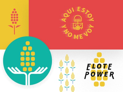 ¡Elote Power! pattern elotes illustration icon mark texture typography type