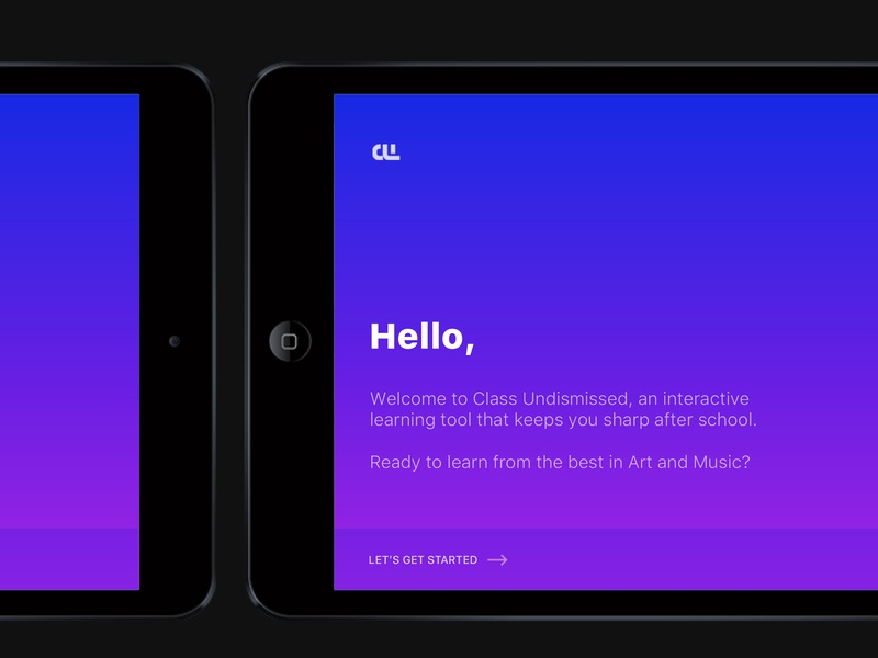 CU Welcome gradient identity art direction branding minimal typography ux ui app
