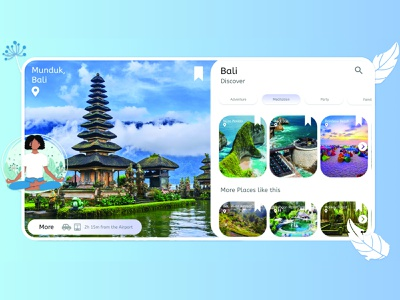 Travel Service web app travel app design bali vacation website design uiux travel app travel
