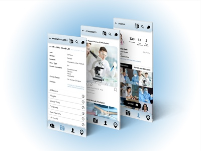 Mobile app - healthcare service for doctors application covid19 covid-19 doctor doctor app healthcare mobile app health