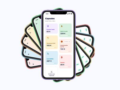 The Yeeld Capsule 🚀 vault finance app financial app ui mobile