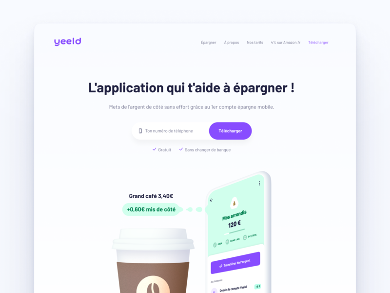 Homepage proposal 💻 financial app homepage webdesign real project