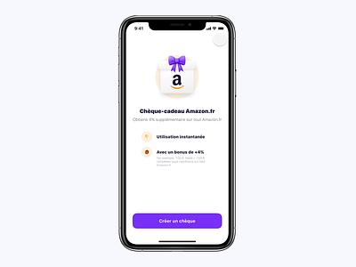 [Exploration] Amazon gift card creation 📦 mobile ui gift card financial app amazon