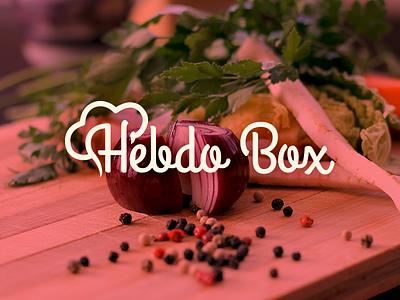 Hebdo Box Project hebdobox food branding brand logo logotype