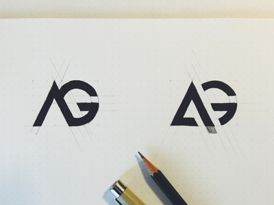 AG logo sketch real project wip brand sketch logo