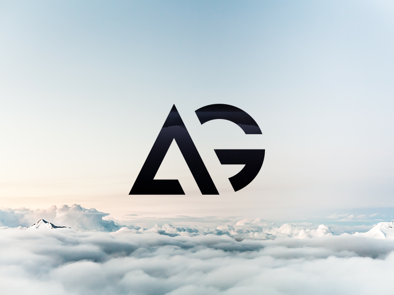 AG - The finished logo minimalist minimalism geometric g a logotype real project brand wip logo