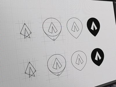 FM Rebranding #WIP #draft real project logotype tent marker festmapper wip brand logo