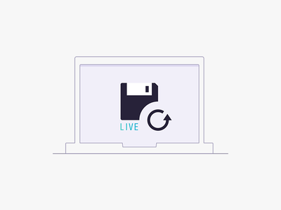 Illustration live save real project computer live illustration save icon