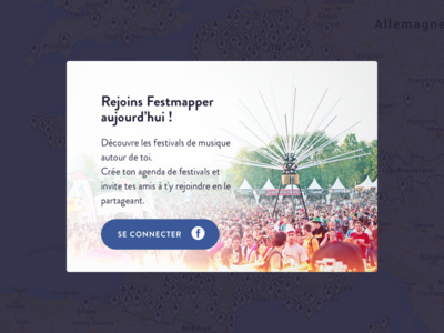 Festmapper login 🎉 real project popin modal login festival map festmapper