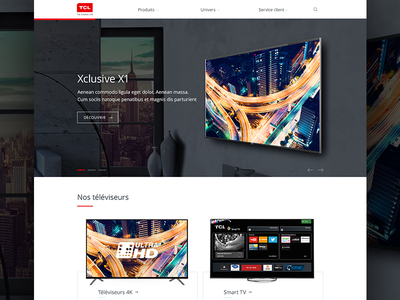 TCL — Refresh Homepage tcl real project tv home webdesign
