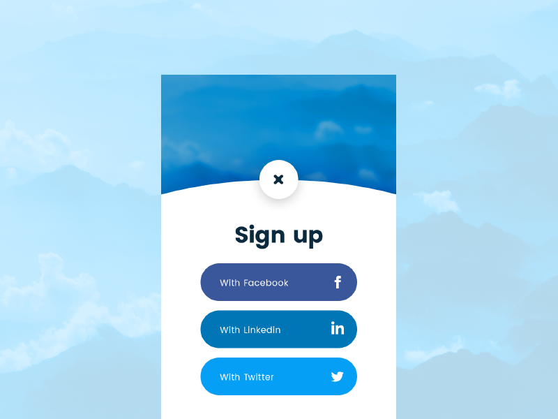 Daily UI 001 mobile ui signup dailyui