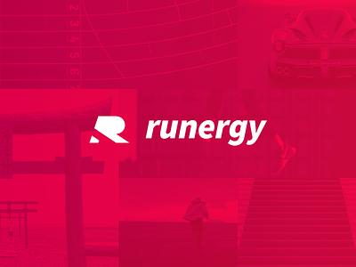 Runergy - Color Inspiration run running r logo lightness race speed color brand runergy