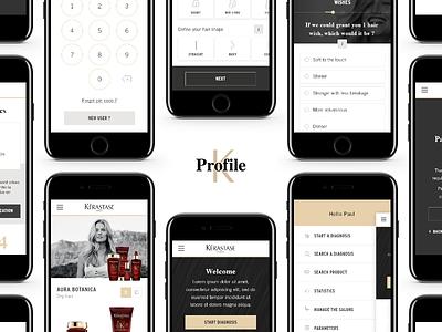 K Profile - App real project k-profile profile k hairdresser salon hair mobile app kérastase