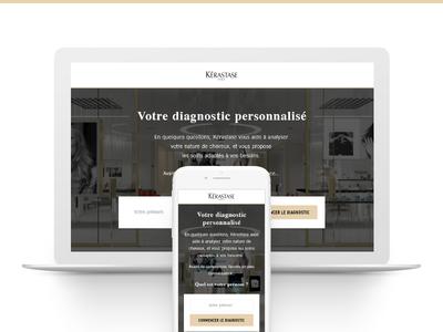 K Profile - Widget real project kérastase app responsive hair salon hairdresser k profile k-profile