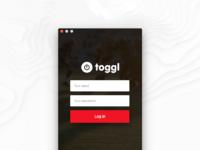 Toggl start redesign  mac app