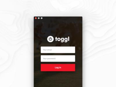 Redesign Toggl  💻   Start