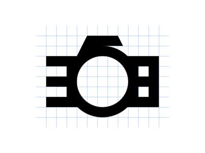 368 Logo Concept photo pic picture camera grid brand logo 368