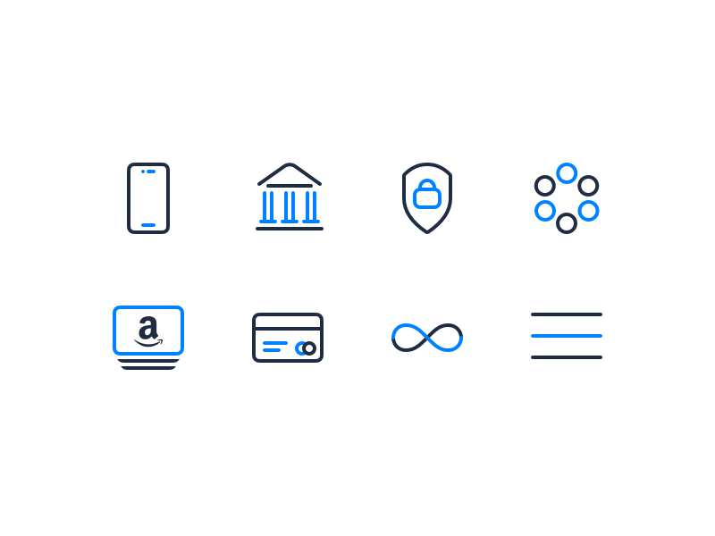 Set Icon — Yeeld thin line icons navicon unlimited infinite credit card amazon security bank phone icon