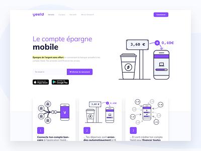 A Brand New Yeeld  ✨ launch ui app save money webdesign website