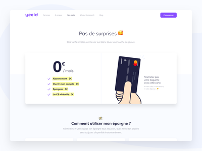 A New Pricing Page 💸✨ price website save money web credit card webdesign app