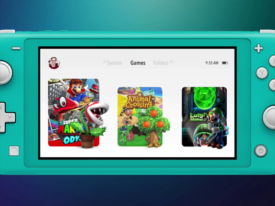 Nintendo Switch UI Explorations adobe xd auto-animate nintendo mario