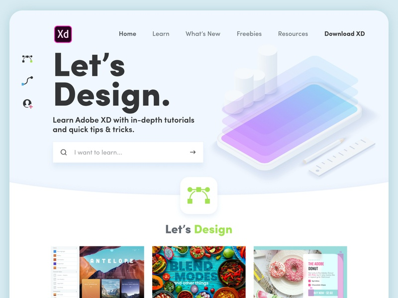 Let's XD Redesign Exploration design redesign web design