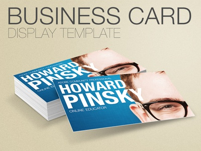 Business card display template by howard pinsky dribbble business card display template accmission Gallery