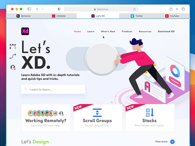 macOS Big Sur – Safari Mockup adobe xd scrolling website webpage hover effect hover effects tabs safari macos