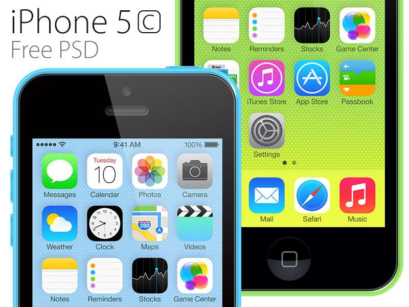 iPhone 5c PSD iphone iphone 5c free psd
