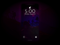 Rise and Shine! Mobile Lock Screen Concept auto animate adobe xd animation ui design rise and shine alarm lock screen sunset