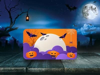Happy Halloween! auto animate 3d transforms adobe xd spooky pumpkins ghost card flip halloween card halloween