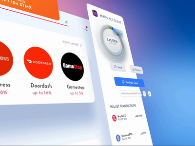 Cryptocurrency Desktop Wallet Experience bitcoin wallet financial wallet finance crypto wallet cryptocurrency crypto