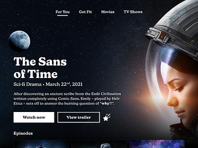 Sans of Time space tv design ui design ui typeface new kansas comic sans television tv