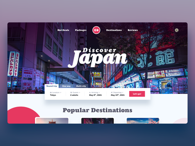 Travel Landing Pages adobe xd website design destinations japan traveling travel page web design website landing page travel