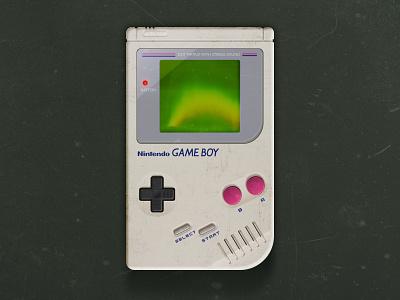Game on! Game Boy Recreation adobe xd blend modes textures game console console retro design retro gaming game boy