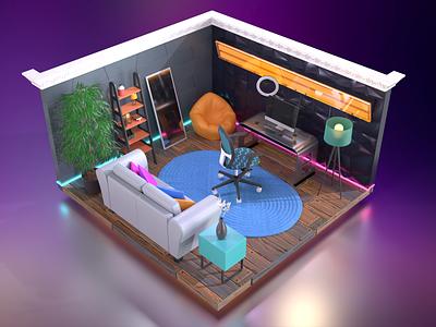 3D Recording Studio adobe substance substance stager substance 3d interior interior design 3d design 3d 3d room