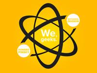 """We, geeks"" Podcast Logo"