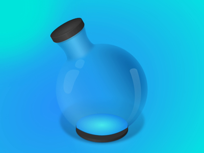 Animated Mana Bottle gradient game design gaming animation auto-animate adobe xd potion mana