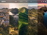 Landing Page Featuring Expandable Photos + Parallax