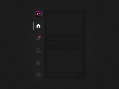 Collapsing Menu mobile design auto-animate adobe xd sidebar icons menu collapsing