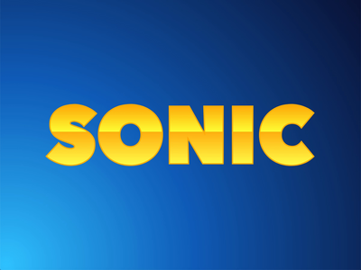 Sonic Text Animation