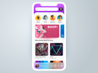 Colorful Mobile Music App