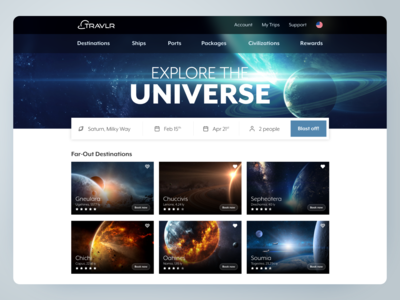 TRAVLR: Explore the Universe