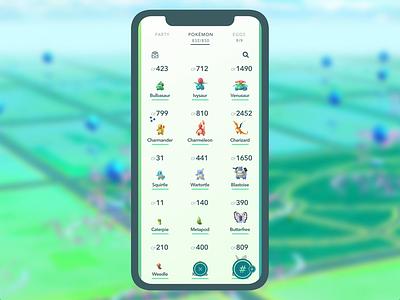 "Pokémon Go ""Boxes"" Concept ui design auto-animate animation prototype animation prototype adobe xd concept mockup pokemongo pokemon"
