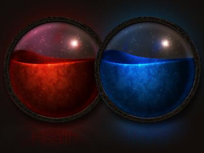 Health and Mana Globes