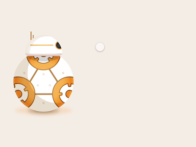 BB-8 Animation using Adobe XD components adobe xd bb-8