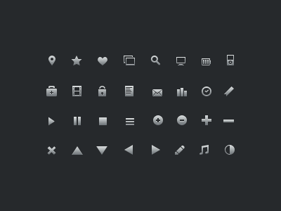 16px Icons 16px 16 icons glyphs vector psd