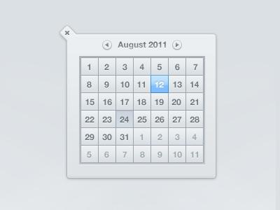 Calendar calendar ui interface august inset
